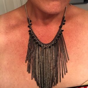 Statement Necklace black and Silver
